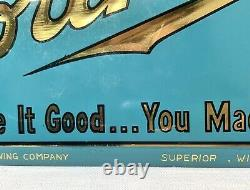 NORTHERN BEER Superior, Wisconsin / Tin Over Cardboard Vintage Bar Sign TOC