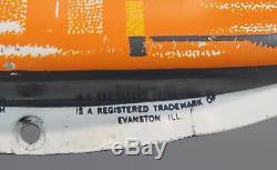 Near Mint! Vintage Orange Crush Soda Bottle Advertising Thermometer Tin Sign, NR