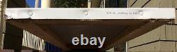 Nos Original 82 Vintage Wolf's Head Motor Oil Gas Tin Embossed Vertical Sign