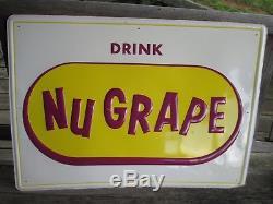 Nugrape Large Vintage Tin Sign 28 x 20 NOS