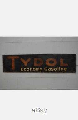 Original Vintage 1929 Tin Veedol Economy Gasoline Sign 71 X 17