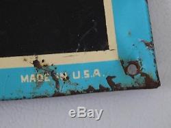 Original Vintage 1940's Hires Soda Pop Embossed Menu Board Tin Sign Very Nice
