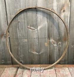 Original Vintage 1940s Cast Iron 30 Sign Ring Bracket For Porcelain Tin Sign