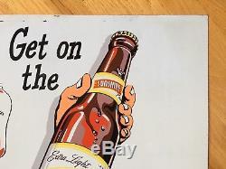 Original Vintage 27 Sunshine Brewing Co. Tin Beer Advertising Sign Reading Pa