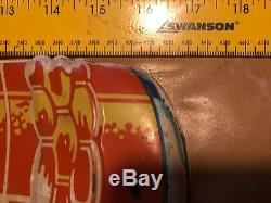 Original Vintage Suncrest Orange Soda Embossed Tin Litho Thermometer/sign 17x5