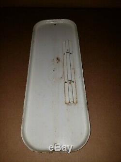 Original Vintage Tin Metal MISSION ORANGE Soda Thermometer Sign