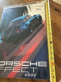 Porsche Effect 930 turbo Vintage Poster Metal Tin Sign Petersen Museum 911 GBody