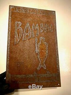 RARE 1920s VINTAGE BABE RUTH BAMBINO TOBACCO TIN SIGN YANKEES NEVER SEEN 1/1