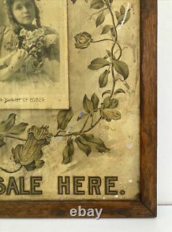 RARE! HIGGINS PHOTO MOUNTER Vintage Antique Camera Store Tin Advertising Sign