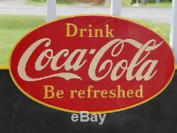 RARE Original Vintage 1959 Coca Cola Canadian Tin Menu Board Sign EX Condition