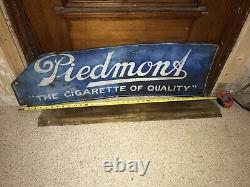 RARE Piedmont Cigarette / Tobacco Vintage Tin Sign Early 1900's Fair Condition