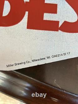 RARE San Jose Sharks Miller Beer Vintage Metal Tin Sign NHL Hockey 29x29 MGD