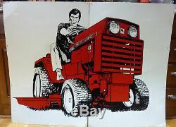 RARE Vintage NOS Wheel Horse lawn tractor tin dealer sign, 1970's, 49 x 37