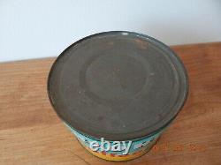 RARE Vintage RED ROSE COFFEE 1 lb KEYWIND TIN CAN country store CANADA
