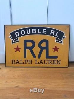 Ralph Lauren RRL store tin sign display banner 90s lee overalls vintage Levi 501