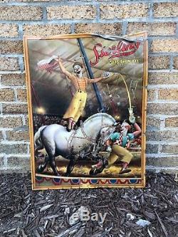 Rare 1938 Sterling Beer Tin Litho Vintage Sign Evansville Indiana