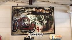 Rare Original Vintage 1910 Tin Sign Automotive Aircraft Advertising