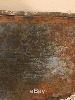 Rare Vintage 1920s Defiance Tires Embossed Tin Tacker Sign Old Original Gas Oil