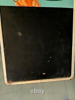 Rare Vintage 1960s Orange Crush Soda Metal Tin Advertising Sign Menu Chalk board