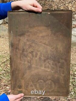 Rare, Vintage Great Heart Coal Tin Sign