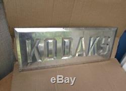 Rare Vintage KODAK FILM CAMERA Tin over Cardboard Advertising Sign
