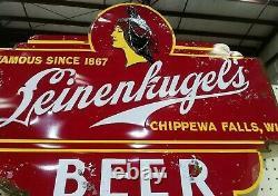 Rare Vintage Leinenkugel's Beer Tin Sign