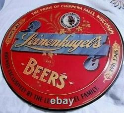 Rare Vintage Leinenkugel's Tin Beer Sign 24