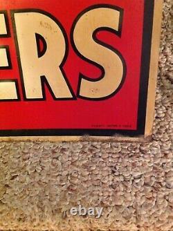 Rare Vintage Original International Fertilizers Embossed Tin Farm Sign Nice