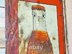 Rare Vintage Tin Sign Soda Orange Crush 30's 54 X 18 St-thomas Sign