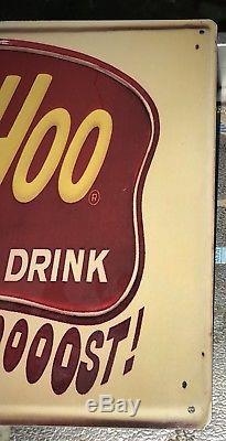Rare Vintage Yoo-Hoo Chocolate Drink Embossed Tin Sign Yoo Hoo Soda Milk Yoohoo