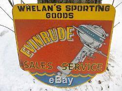Sale Service Vintage Evinrude Outboard Motor Double Side Dealer Die