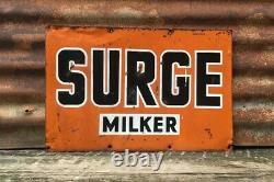 Surge Milker Sign Vintage Metal Sign Farm Sign Milk Tin Tacker Farming Sign Old
