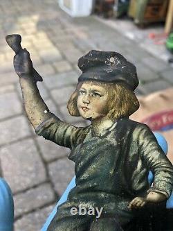 TIN MATCH HOLDER Vintage DUTCH BOY PAINTS 1930'S AMER. SIGN CO. BROOKLYN, N. Y