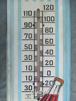 VINTAGE 1940s-1950s DRINK HIRES ROOT BEER TIN ADVERTISING THERMOMETER SIGN