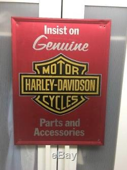05a50080c4 Vintage Genuine Harley Davidson Parts & Accessories Tin-tacker Dealer Sign