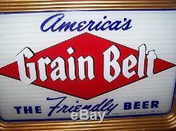 Vintage Grain Belt Beer Reverse Painted Glass Sign Rog Minnesota ...
