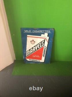 VINTAGE MARVELS CIGARETTE TIN Embossed Litho Great 19.5 X 14.5 70 Years Old