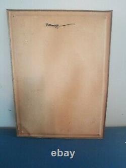 (VTG) 1934 blatz old heidelberg beer valerie girl TOC tin over cardboard sign wi