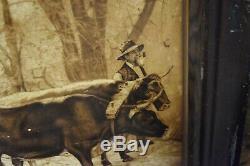 Vintage 1900's Grand-Dad Bourbon Whiskey Litho Tin Advertising sign Pre Pro RARE