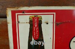 Vintage 1920s Prohibition Anheuser Busch Bevo All Year Round Soft Drink Tin Sign