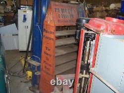 Vintage 1930's Perfect Circle Piston Rings 72 Tin over Wood Display Stand Rare