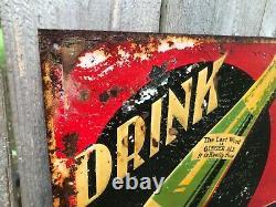Vintage 1930s Mavis Ginger Ale Embossed Tin Soda Advertising Sign