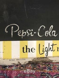 Vintage 1940s 1950s PEPSI Soda Pop Tin Advertising Chalkboard Display Sign