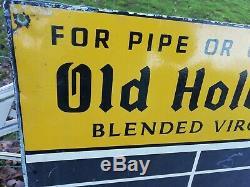 Vintage 1950's Old Holborn Tin & Enamel Pub Darts Scoring Chalk Board Wall Sign
