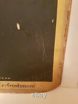 Vintage 1950's Pepsi Cola Tin Soda Menu Board Chalkboard Menu Sign