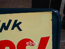 Vintage 1954 Drink PEPSI-COLA Bottlecap Advertising Pressed Tin Sign #M-199 NOS