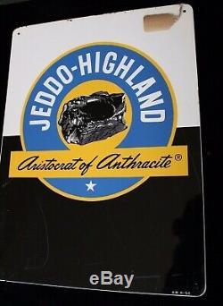 Vintage 1954 Tin Sign Jeddo-Highland Anthracite Coal Sign
