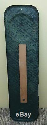 Vintage 1955 PEPSI Cola Soda Embossed Metal Tin Thermometer Sign 27 x 7