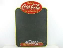 Vintage 1957 Coca-Cola Menu Board Sign Tin Chalkboard Advertising