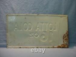 Vintage 1959 16 Ounce Lotto Cola Tin Sign